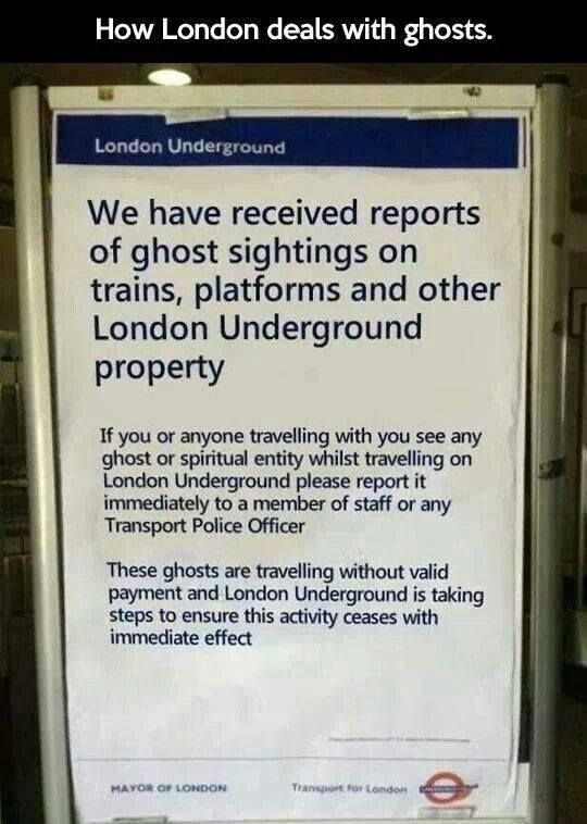 I love London and it's humour!