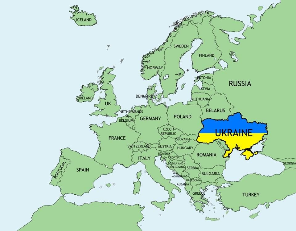 Image result for map of ukraine in europe