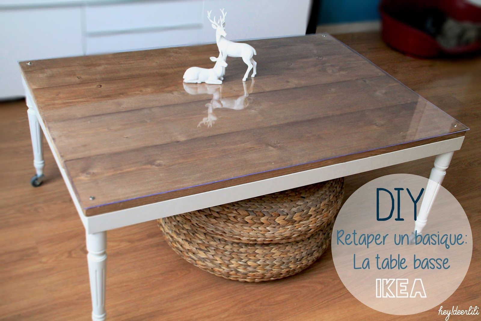 Hey deer lili retaper un basique la table basse ikea diy customiser ses meubles - Personnaliser table basse ikea ...