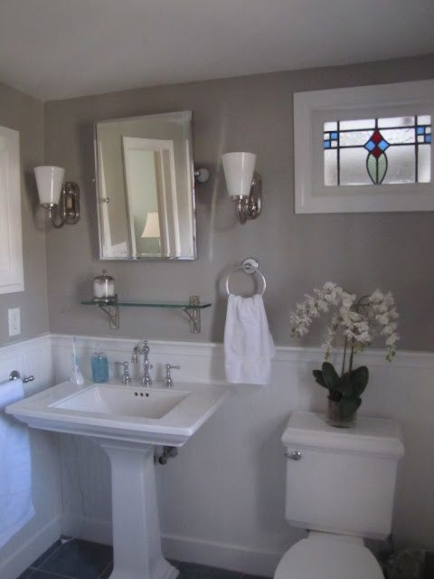 bathroom paint grey. Favorite Paint Colors: Bathroom Bedford Gray By Martha Stewart Trim And Wainscoating: Picket Fence Grey Y