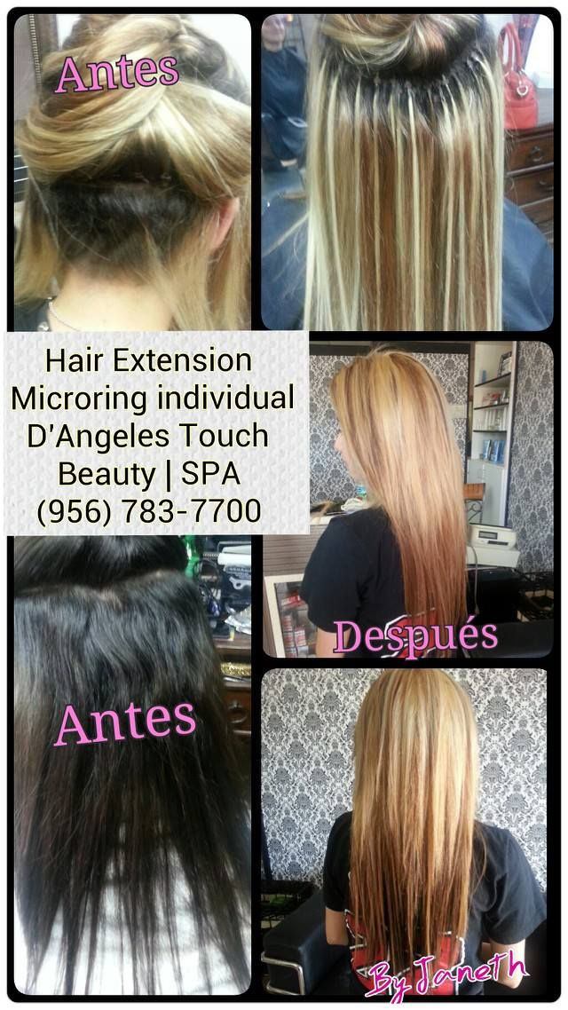 Individual Hair Extensions Microchip Hair Extensions Pinterest