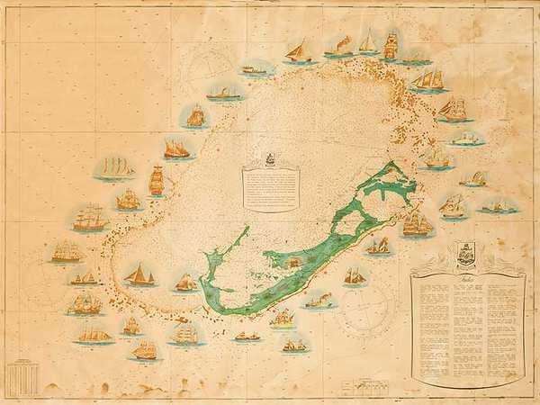 Map of Bermuda shipwrecks. | shipwrecks | Pinterest | Shipwreck ...