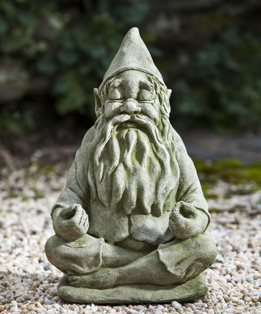 Campania International Big Fred Totally Zen Gnome Statue | Gnomes ...