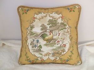 yellow and black french scroll pillow | Last Pillow Kaufmann Cury Yellow Gold Colorful Toile ...