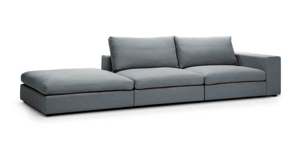Lounge In The Lap Of This Sumptuous Modular Sofa A Low Profile