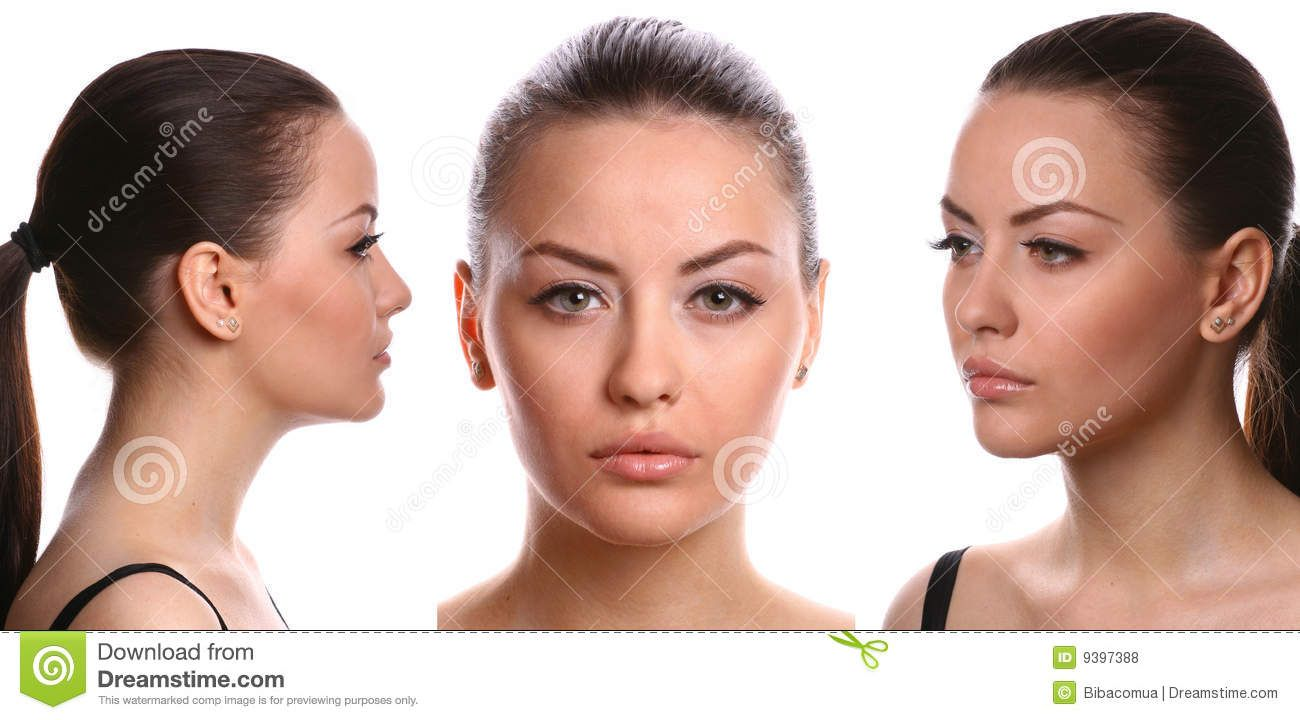 3-views-female-face-9397388.jpg (1300×720) | Face Reference ...