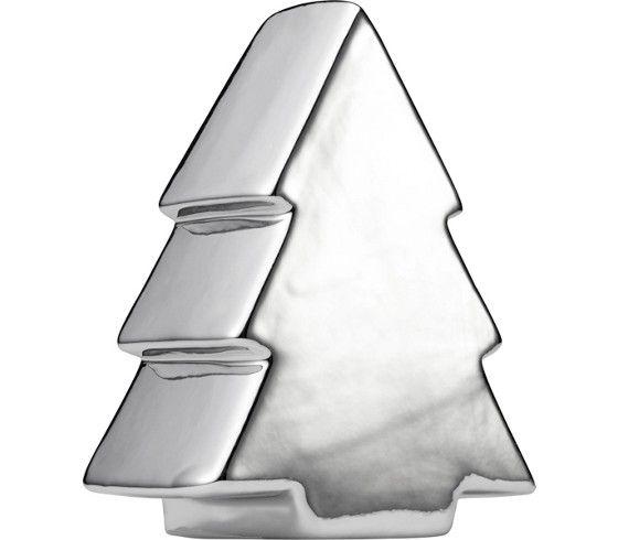 Glanzvoller Dekoweihnachtsbaum aus Porzellan - ein Hingucker in Silber