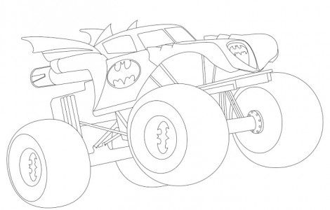 Batman Monster Truck Coloring Pages | Ethan\'s birthday party ...