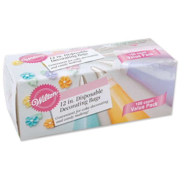 """disposable decorating 12"""" bags - 100 ct"""