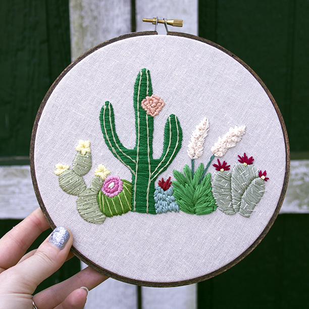 Desert landscape hand embroidery bedroom