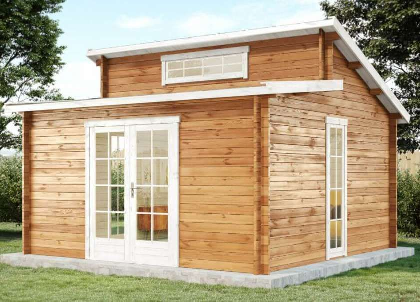 Gartenhaus Lausitz40 ISO mit Anbau Gartenhaus kaufen