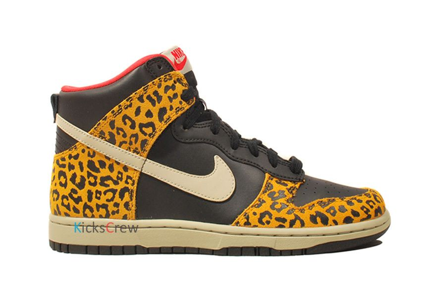 Leopard Nike Dunk High Tops