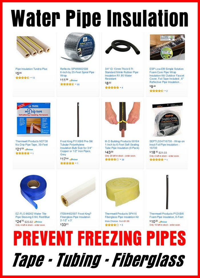 Water Pipe Insulation - HOW TO PREVENT FREEZING PIPES - Tape - Tubing - Fiberglass