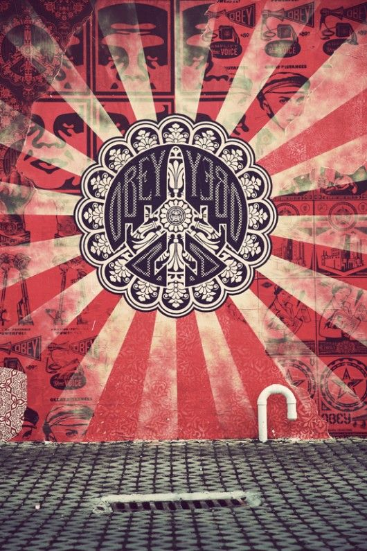 Mural done by Shepard Fairey and the Obey Giant crew | Street art ...