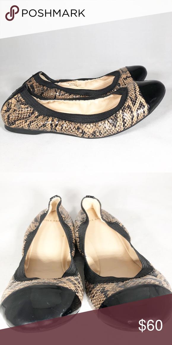 Cole Haan Deltona Snakeskin Ballet Flat