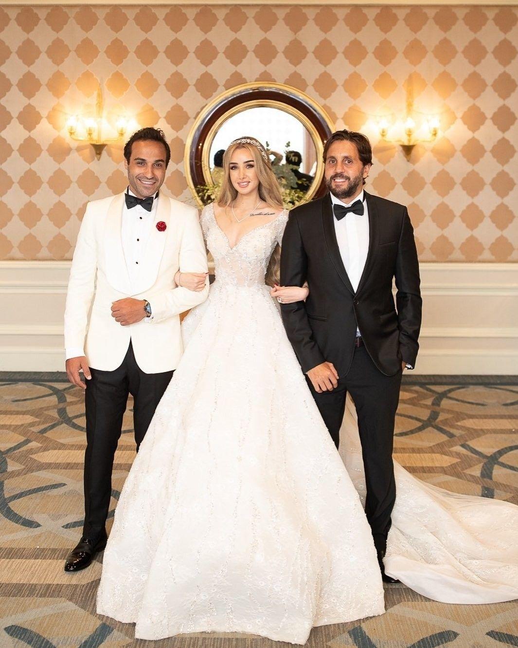 Hannah Elzahed Ahmad Fahmy Wedding Egyptian Actress Instagram Fashion Wedding Dresses [ 1331 x 1065 Pixel ]