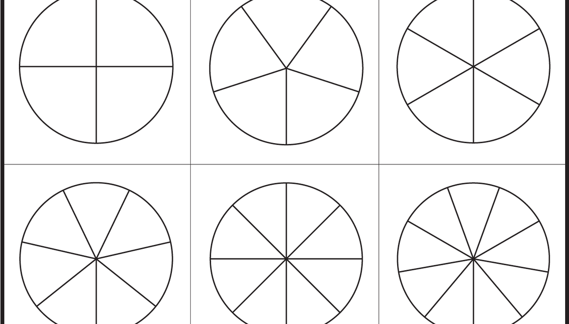 photograph regarding Fraction Circles Printable known as Portion Circles Template - Printable Portion Circles - 1
