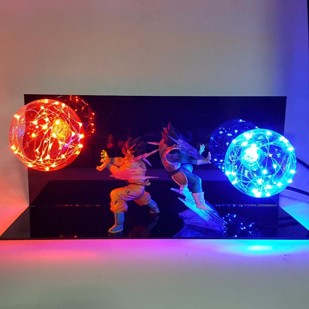 Dragon Ball Vegeta Goku Super Saiyan Fighting Led Light Anime