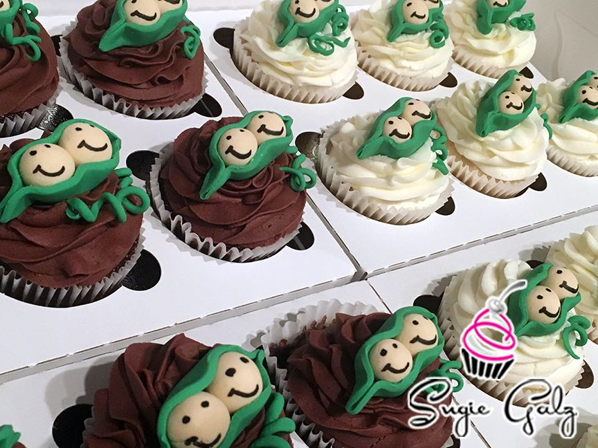 Peas In A Pod Cupcakes By Sugie Galz In Austin Texas To Celebrate