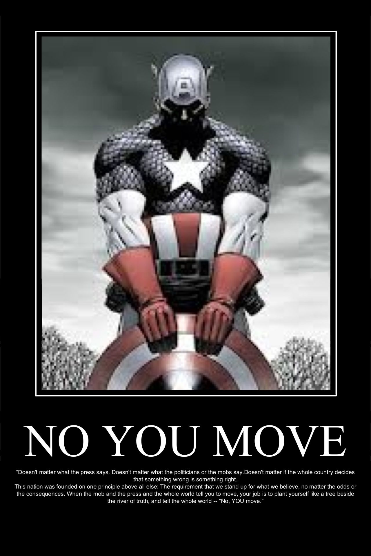 No You Move Captain America Mark Twain