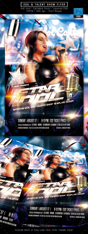 Idol Sing Talent Show Flyer Photoshop Psd Flyer Karaoke