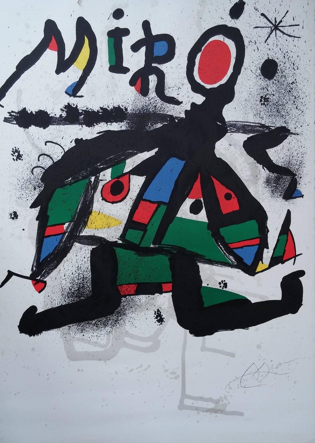 Poster For Miro Exhibition Galerie Maeght Paris Miro Artist Abstract Prints Abstract Poster