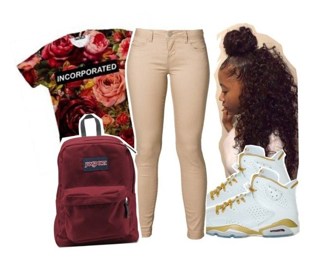 """""""#648"""" by dazzlinperrie ❤ liked on Polyvore featuring ONLY and JanSport"""