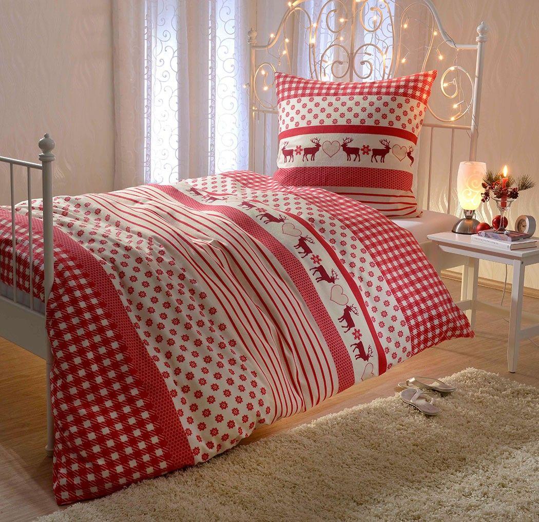 biber bettw sche rentier mit rei verschluss wer sich nicht entscheiden kann zwischen karos. Black Bedroom Furniture Sets. Home Design Ideas