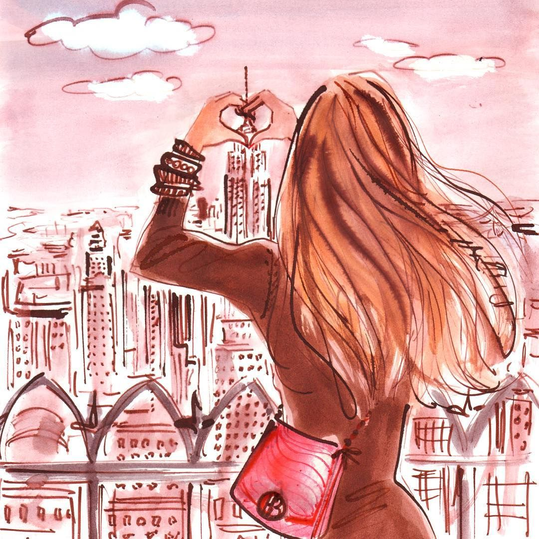 Are you feeling the love #NewYork? #february1st #pink #love #nyc #illustration #fashionillustration #lolasworld #izaksmuse @traffic_nyc