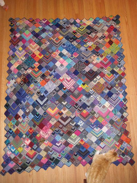 Knitted Flowers Pattern : Ravelry: Sock Yarn Blanket pattern by Shelly Kang- go past ravelry to the blo...