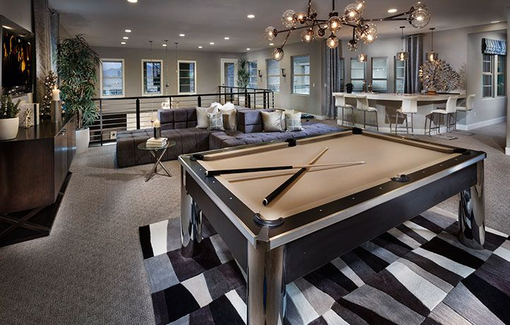 Residence Six New Home Plan In Southern Highlands Olympia Ridge Game Room Bar Game Room Loft Decorating Ideas Upstairs