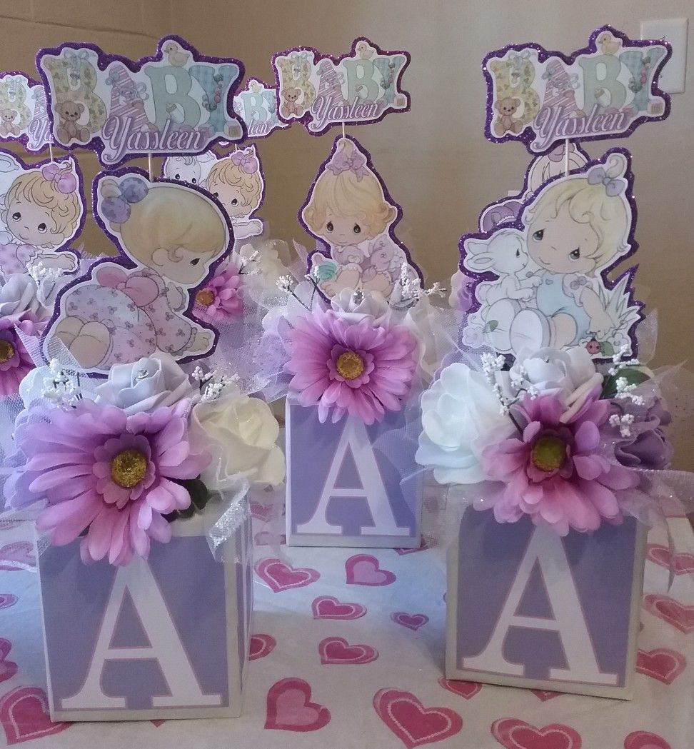 Baby Shower Centerpieces Precious Moments Centerpieces Created By