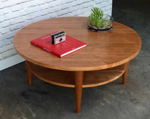 Surprising Round Coffee Table Oxelaand Solid Cherry Basement Dailytribune Chair Design For Home Dailytribuneorg