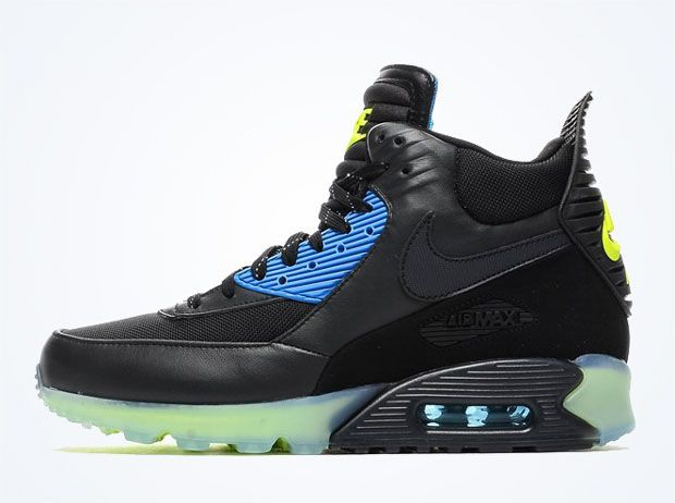 Nike Air Max 90 Sneakerboot Ice – Black – Volt – Photo Blue