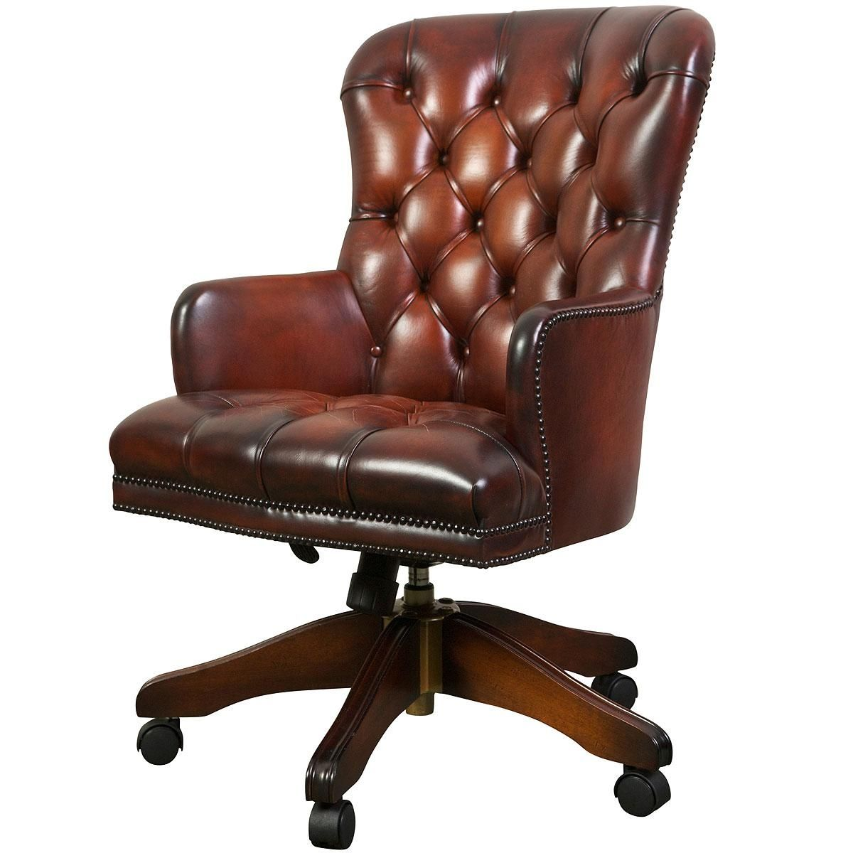 Queen Anne Leather Desk Chair httpdevintaverncom Pinterest