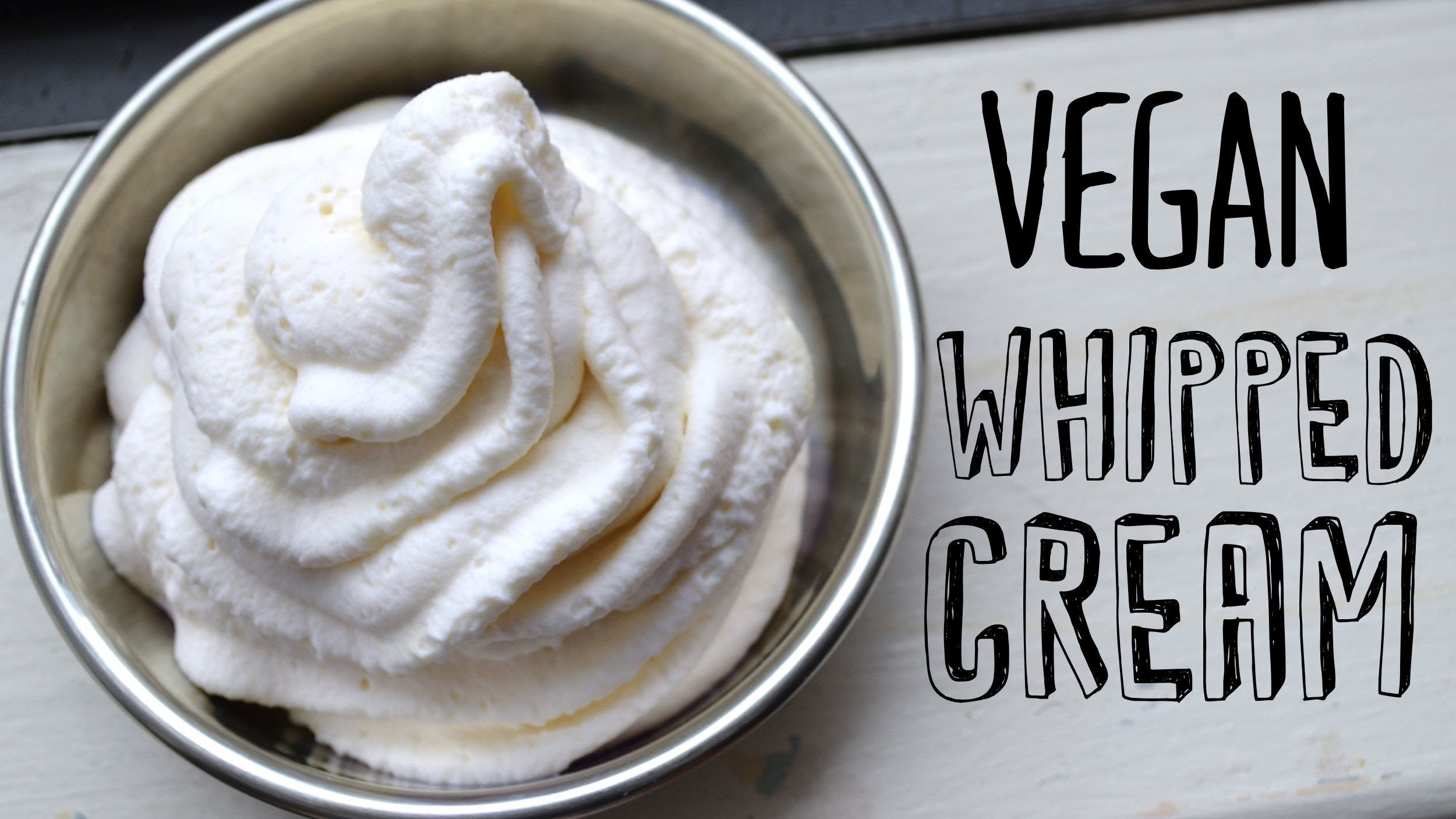 How To Make Vegan Whipped Cream Fablunch Vegan Whipped Cream Recipes With Whipping Cream Coconut Whipped Cream