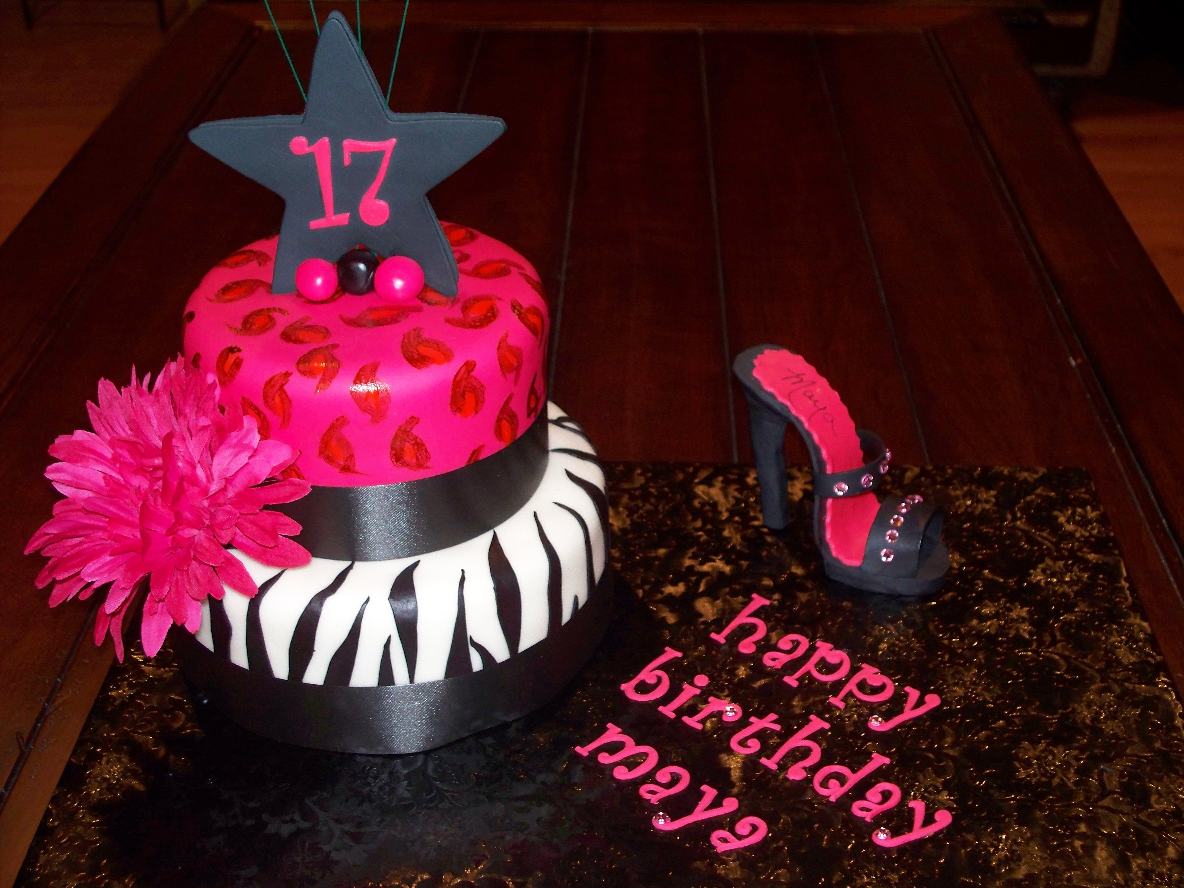 Incredible 17Th Girly Girl Cake 17 Birthday Cake Birthday Cake Cake Personalised Birthday Cards Xaembasilily Jamesorg