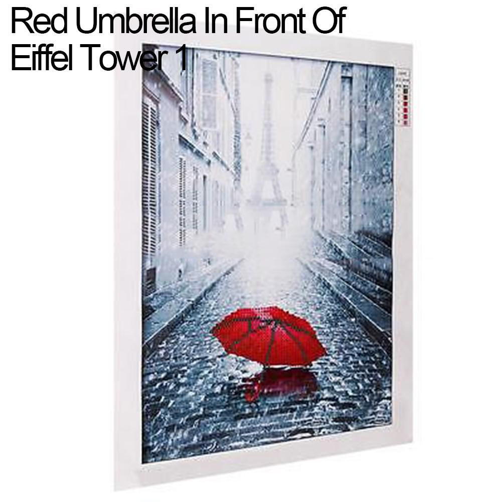 Photo of DIY 5D Diamond Painting Eiffel Red Umbrella Embroidery Cross Stitch Home Decor – as the picture p