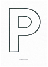 Letter P Coloring Page   Grandmas birthday   Letter p activities