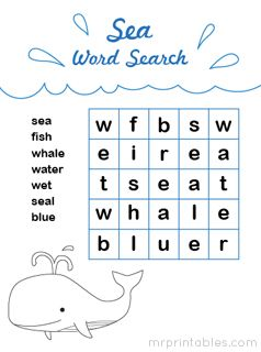 Printable Word Search Puzzles Mazes Easy To Print And Very Cute