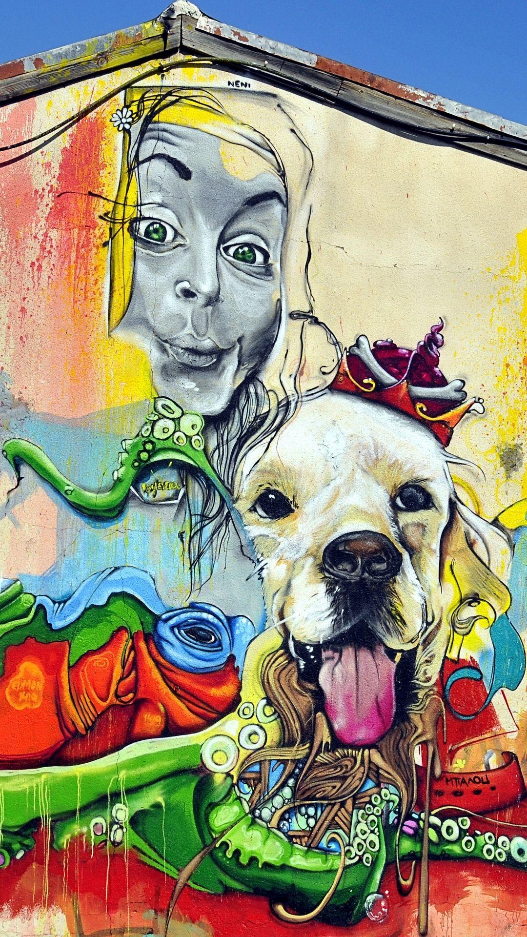 картинки граффити собака свадебные