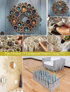 rohre, kranz, deko   deko   pinterest   kränze, deko und möbel, Gartenarbeit ideen