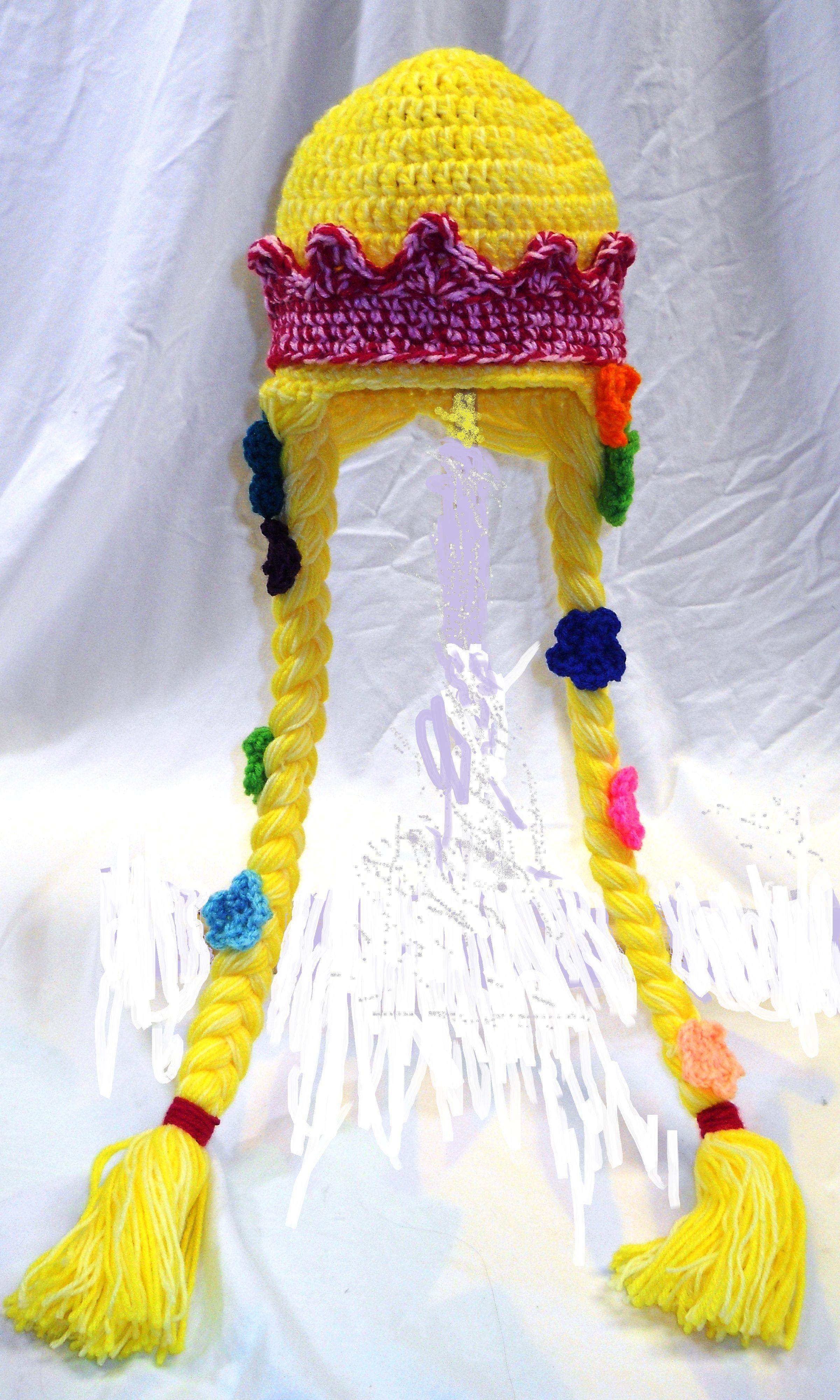 Crochet Rapunzel hat   Hats   Pinterest   Häckeln, Kostüm und Stricken