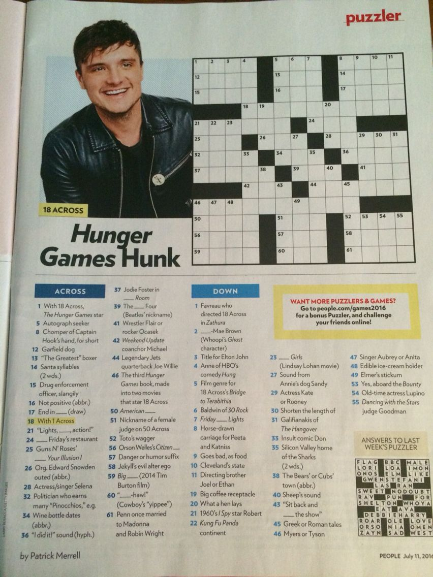 picture about People Magazine Crossword Printable named Pin upon Cross phrase