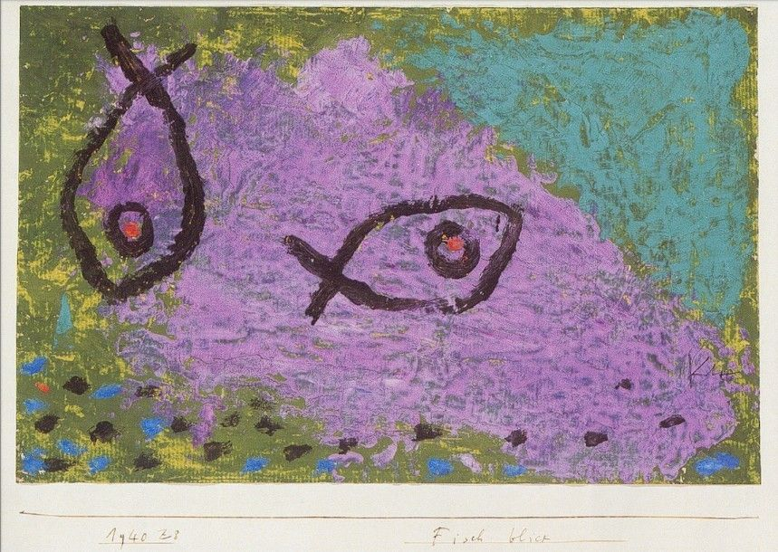 Paul Klee Fisch Blick Fish View My Translation G S 1940