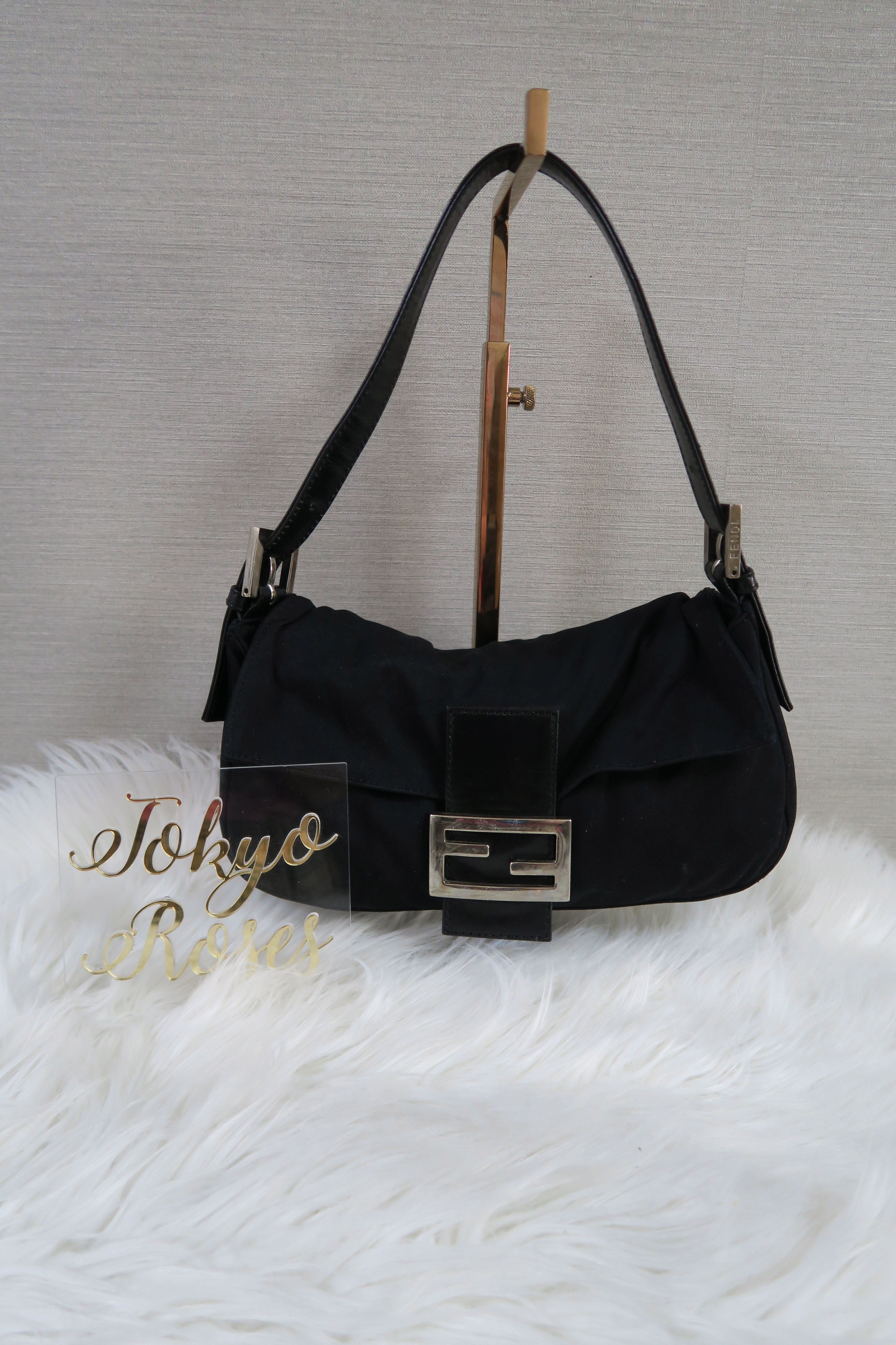 e116c02bba8 Black Fendi Mama Baguette Handbag S. Find this Pin and more on Vintage  Fendi FF logo Zucca Print ...