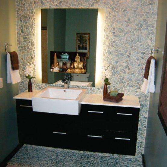 30+ Bathroom vanity mirror with built in tv type