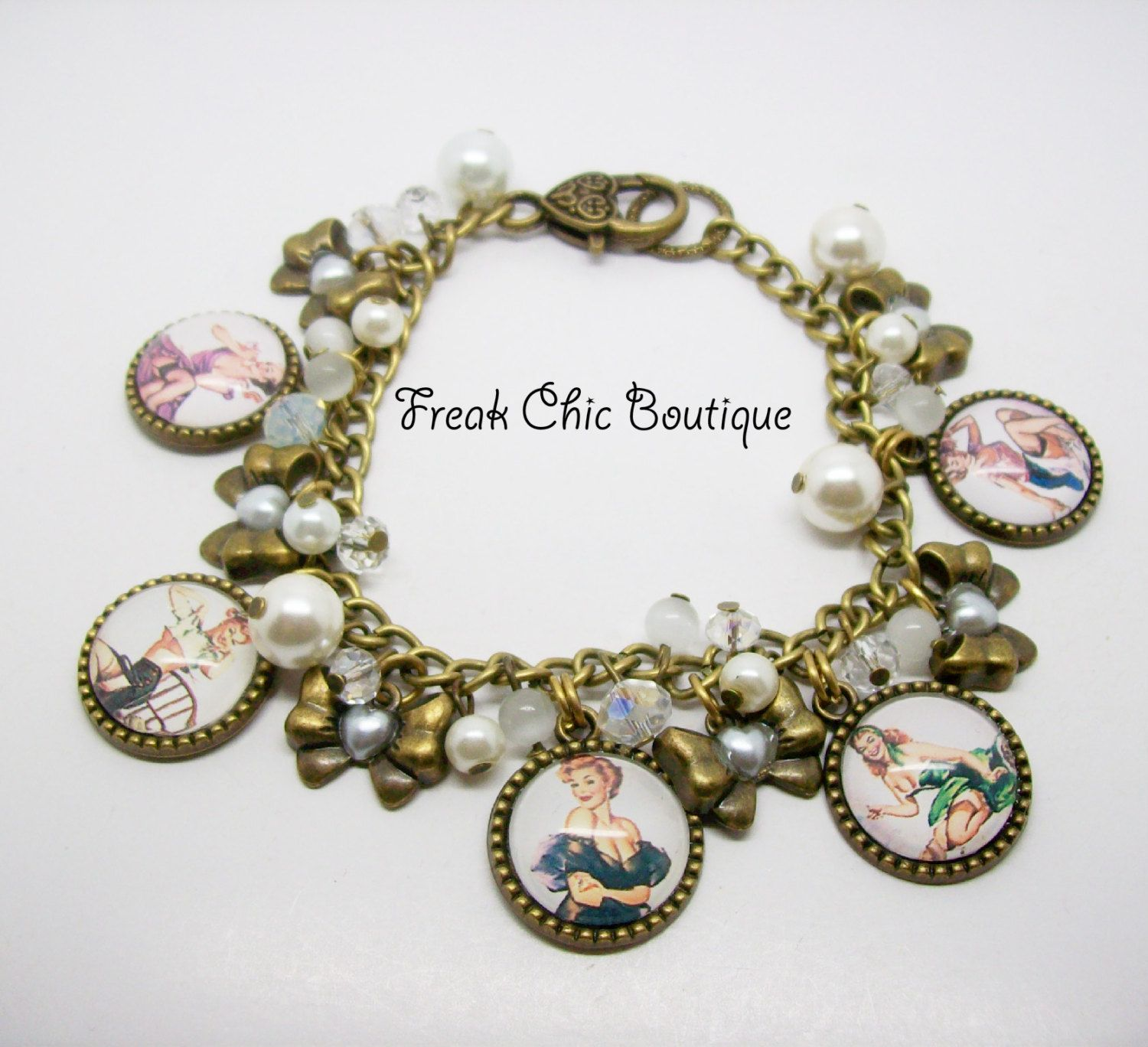 charm retro bracelet jewelry pin up