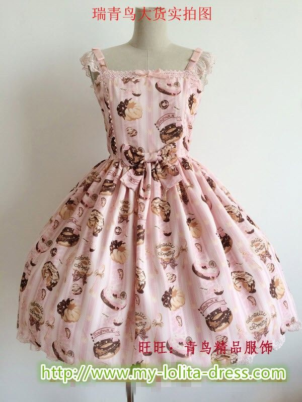 ★★★ [Replica] Angelic Pretty ♡❂❂❂~Melty Cream Doughnut~❂❂❂♡ JSK ★★★ IN STOCK >>> http://www.my-lolita-dress.com/ap-replica-melty-cream-prints-lolita-jsk-rbb-9