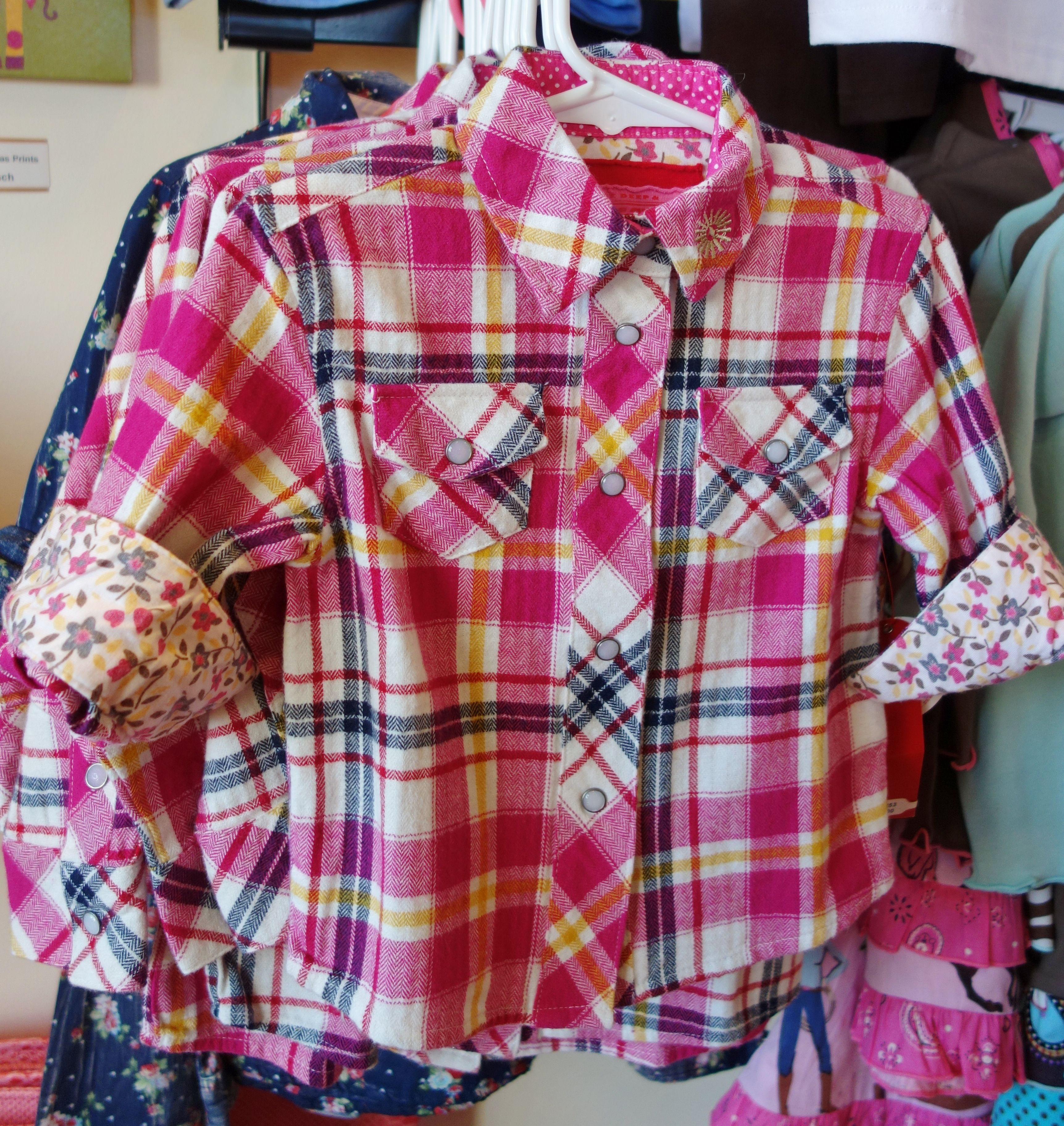 Flannel shirt party  Pink plaid flannel girls pearl snap shirt by Farm Girl  FW Girls